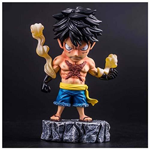 Ruffy Figur AXZXC Anime Figur Tattoo Ruffy One Piece 18 cm / 7 Zoll One Piece Action Figure PVC Sammlerstücke oder Kinder Teens Männer und Anime Fans