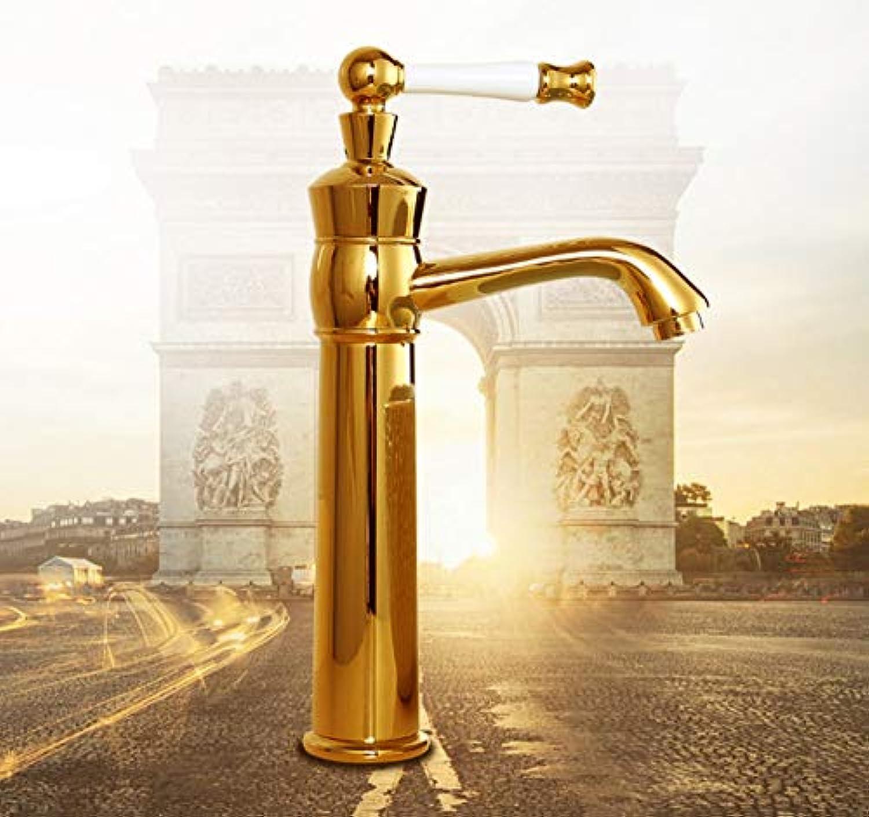 ROTOOY Gold Keramik Wasserhahn Antike Küchenmischer Waschtischmischer Europischen Vintage Stil voller Waschbecken Kunst Badezimmer Wasserhahn Wasserhahn