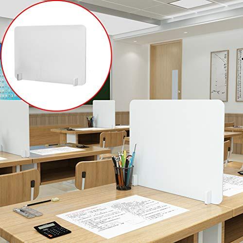 Zilosconcy Tischtrennwand Desk Spuckschutz, 40 * 40 cm Thekenaufsatz Raumteiler aus Acryl Für Rezeption, Büros, Bibliotheken, Klassenzimmer, Schule, Restaurants, Tröpfchen vermeiden