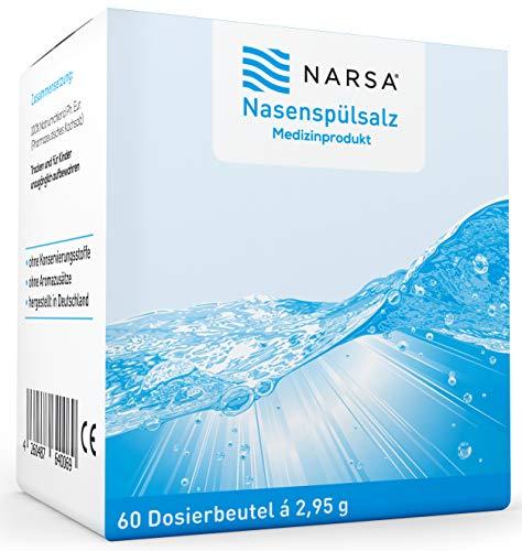 NARSA® Sales de Lavado Nasal Solución Natural Salina en Bolsas Individuales Limpieza...