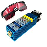40W Laser Module Head , 450nm Laser Head Blue Light Laser Engraver for Cutting Plywood and Metal Engraving (33mm)