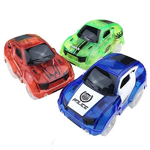 N/V Car Set Auto Giocattolo Pista Elettrica Luminosa Trasparente, Macchina Della Polizia Camion, Bambini Regali Di Pasqua Per Bambini Di Natale