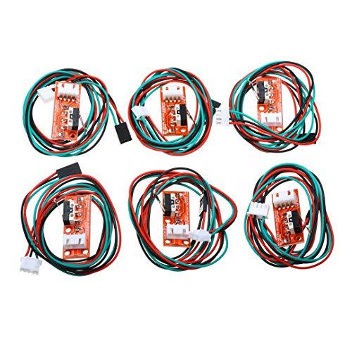 6 interruttori meccanici di finecorsa con cavo per stampante 3D Arduino (confezione da 6)