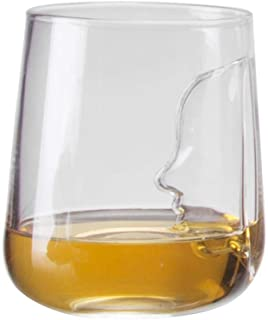 Umiwe Champagne Flutes Wine Cup, Glass Tableware Human Face Whisky Wine Decanter Crystal Wine Aerator Pourer