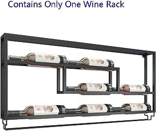 Wine Rack Wall-mounted Wine Rack Restaurant Modern Minimalist Wall Hanging Wine Rack Cafe Bar Wine Rack Bottle Holder (Color : Black, Size : 100509cm)