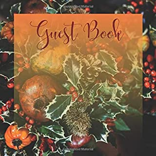 Guest Book: Fall, Autumn Themed for Cabins, Air BNB, VSCO, Vacation Home, Guest House, Rental, Bed and Breakfast, Mountain, Lake House, Rustic