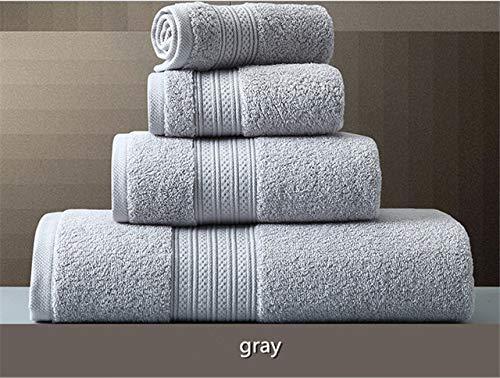 IAMZHL Toalla de baño de algodón de 150 * 80 cm Toalla de baño súper Absorbente Toallas de baño para Adultos Grandes y Gruesas-Light Grey2-40x70cm