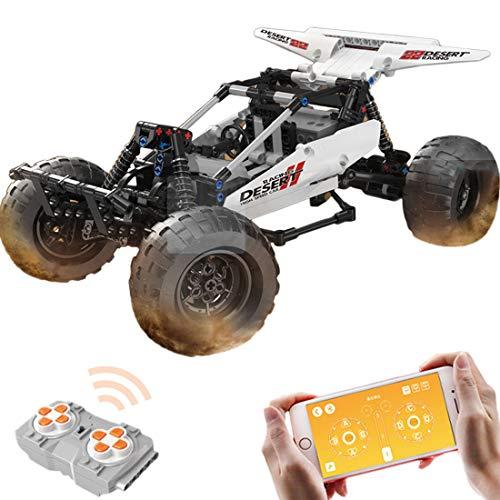 ReallyPow Technik Off-Road Buggy Geländewagen, Fernbedienung + App-Gesteuertes, Retro Rennwagenspielzeug Kompatible mit Lego Technic - 394 Teile