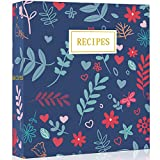 """✅HIGH-QUALITY COMPLETE RECIPE BINDER SET: A set including 9.5"""" x 8.5"""" x 2"""" 3-ring recipe organizer binder, 40 recipe cards (4x6 inches), 20 plastic page protectors (6.9x8.9 inches), 12 color tabbed dividers (6 marks and 6 blanks) and 24 blank labels...."""