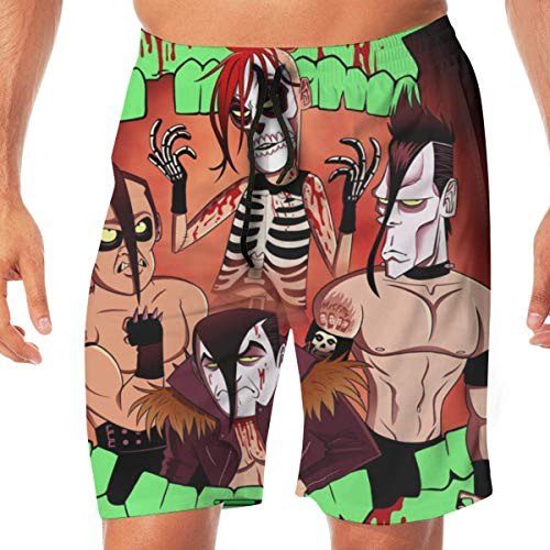 Shichangwei Swim Boardshort Uomo Tskention Misfits Static Age Summer Men's Beach Pants Swim Trunks Quick Dry Sports Shorts for Father's Day