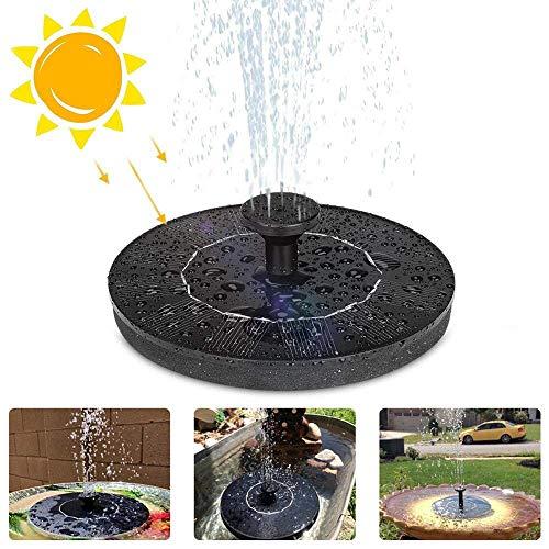 Pkfinrd 2,5 W zonnefontein pomp voor vogel bad, cirkel zonne-drijvende fontein met 4 mondstukken voor tuindecoratie kleine vijver zwembad vis tank Aquarium
