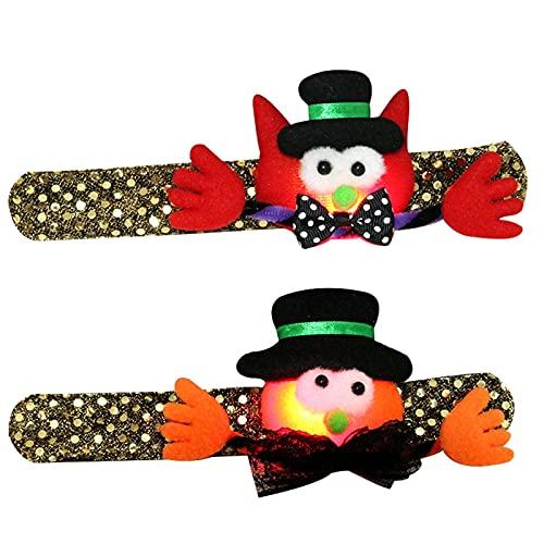MAIKUI Halloween-Spielzeug, Halloween Pat Kreis leuchtende Pailletten mit Lichtern und Handschnalle, Halloween Spielzeug können Sie mitnehmen Für Kinder zum Spielen geeignet