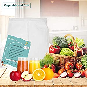 """Nut Milk Bag Reusable 3 Pack 12"""" x 10"""" Cheesecloth Bags for Straining Almond/Soy Milk Greek Yogurt Strainer Milk Nut Bag for Cold Brew Coffee Tea Beer Juice Fine Nylon Mesh Cheese Cloth  """