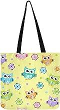 Owl Baby Texture Canvas Tote Handbag Shoulder Bag Crossbody Bags Purses For Men And Women Shopping Tote