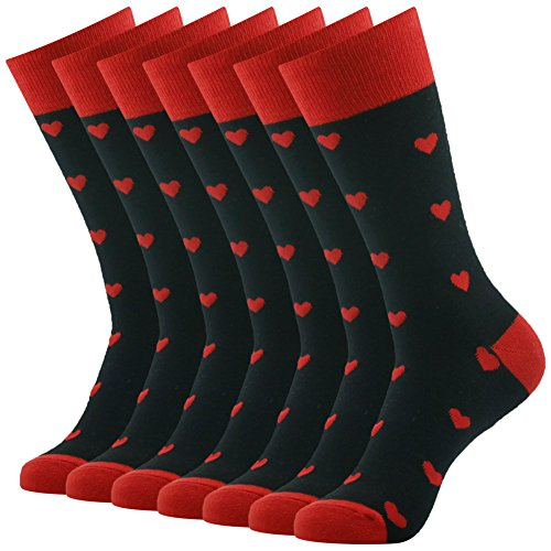 SUTTOS Mens Dress Socks Fun Colorful Socks for Men Cotton Patterned Fashion Mens Socks 7 Pairs