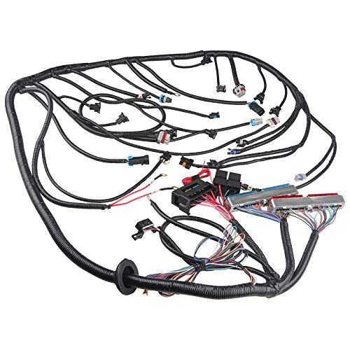 WMPHE Engine Wiring Harness Professional Standalone Wiring Harness with T56 non-electronic Transmission Drive By Cable,Compatible with DBC LS1 Engines 4.8 5.3 6.0 EV1 Injector Plug 3 Pin Maf 1997-2006