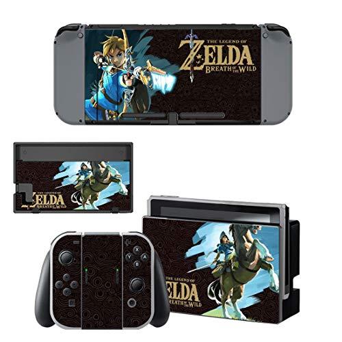 Zelda Nintendo Switch Skin / Decal / Vinyl / Sticker - Breath Of The Wild Cartoon Water Paint Design BOTW