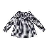feiXIANG Black Five Cyber Monday Ropa para bebé Niño niña Bebé niña Muñeca de algodón Camisa a Cuadros Top Nueva Comodidad Top