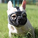 Moonpet Silicone Rubber Basket Bozal para perros - Anti masticación Biting...