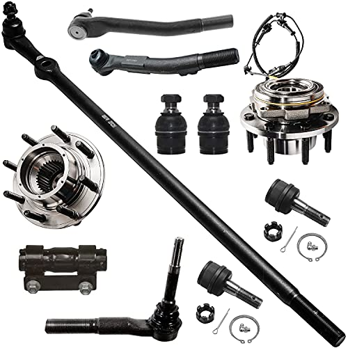 Detroit Axle - New 11-Piece Front Suspension Kit - (1) Outer Tie Rod, Pitmans to Steering Arm, (1) Adjustment Sleeve, (2) Outer Tie Rod, Steering to Steering Arm - 4x4 SRW ONLY