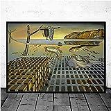 MJKLU Español Salvador Dalí Surrealismo Resumen La persistencia de la Memoria Reloj retorcido Lienzo Pintura Arte de la Pared Póster Dormitorio Sala de Estar Oficina Estudio Decoración del hogar
