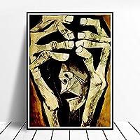 表現主義の抽象化絵画プリント帆布リビング部屋装飾玄関抽象壁画像複数サイズ表現主義の抽象化ポスター家壁アートパネル