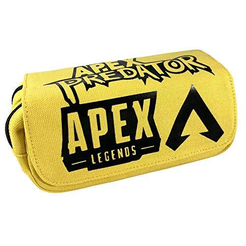 Dirgee APEX Legends Bleistift-Taschen-Leinwand-Feder-Kasten-Kind-Schule-Briefpapier große Kapazitäts-Geschenk-Beutel-Action-Figur Spielzeug Kind Boy
