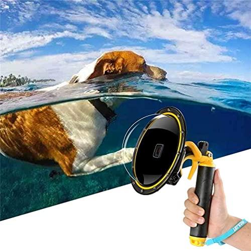Für GoPro Dome Port, Für Gopro Hero 7 6 5 2018 Black Dome GoPro Zubehör Unterwasser Dome Objektivdeckel Wasserdichtes Gehäuse Tauchgehäuse mit schwimmendem Griff und Shooter für Action Kamera