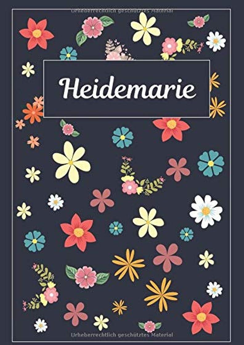 土地知覚的遠いHeidemarie: Tagebuch Malbuch Notizbuch Journal | 120 Seiten | DIN A4 | Blanko | Geschenkidee
