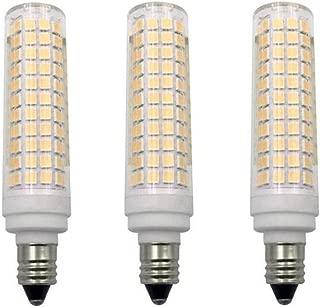 JKLcom E11 LED Bulbs Dimmable 15W(Equivalent to 150w Halogen Bulbs Replacement)110V Warm White 3000K LED Corn Light Bulbs JD T4 E11 Mini Candelabra Base,Dimmable,136 LED 2835 SMD,3 Pack