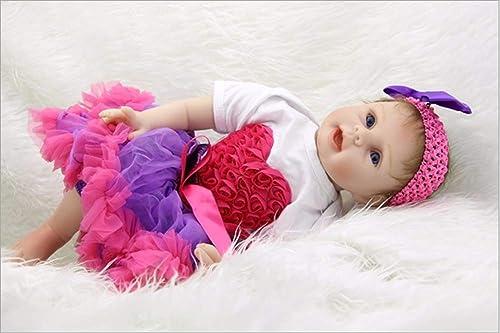 LIDE Kinder Spielzeug Geburtstag Geschenke Neugeborenes Baby Doll offene Augen mädchen 22 Zoll 55cm Weiße Silikon Vinyl Magnetismus Reborn Babys Puppe