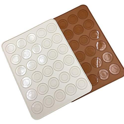 Tapis de cuisson en silicone pour macarons 30 cavités - Résistant aux températures élevées - Accessoire de cuisine