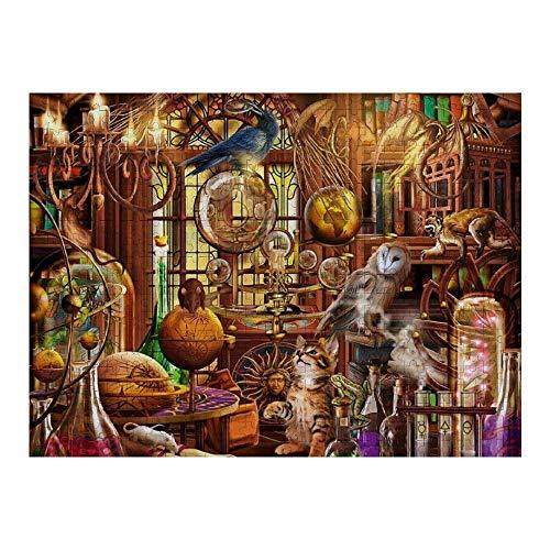 RABEAN The-Magicians-Study 1000 Piezas de Rompecabezas de Madera ensamblaje de Rompecabezas de descompresión de imágenes para Adultos y niños Juegos para niños Juguetes educativos