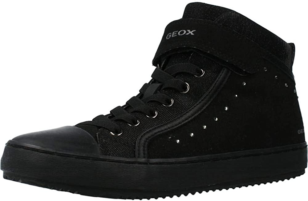 Geox j kalispera girl i, sneakers basse a collo alto donna in camoscio J744GI0AFEW