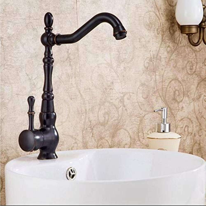 Lddpl Poliert Schwarz Küchenarmatur Messing Swivel Kitchen Sink Wasserhahn 360 Grad Wasserhahn Drehen Küchen-Mischbatterie