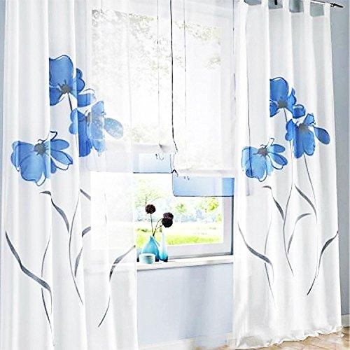 cortinas salon estampadas flores