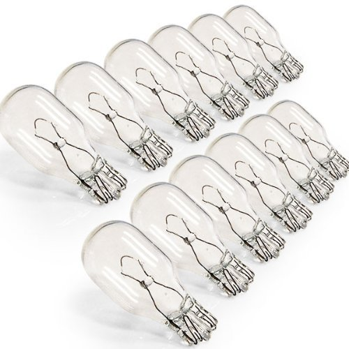 10 Pack, 12 watt 12V T5 Wedge Base Replacement Bulbs T5 Low Voltage 12W
