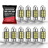 TUINCYN 1.25' 31MM Festoon LED Bulb Extremely Bright 6000K Xenon White 5630 Chipset DE3175 DE3021 DE3022 6428 7065 Interior Car Light Bulbs Dome Map Courtesy License Plate Light Bulb 12V (Pack of 10)