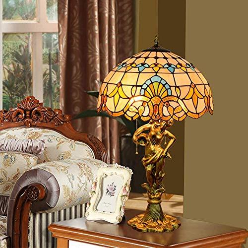 Lámpara De Mesa Tiffany Vidrieras De Estilo Barroco Creativo Amor Adaptado Living Hotel Exquisita Puesta del Sol De La Lámpara 🔥