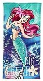 Disney Toalla de baño de playa Princess Ariel Character Girls Tela de microfibra ultra suave de secado rápido tamaño grande