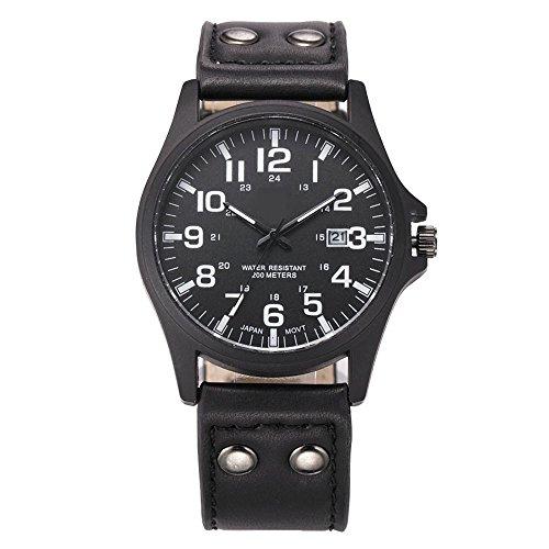 FENKOO Mode soki Uhren Marke der Männer Sportuhren Drei Leder analoge Quarz-Armbanduhren montres Hommes