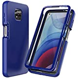 Nuomaofly for Moto G Power 2021 Case with Built-in Screen Protector Designed, Full-Body Heavy Drop Protection Shock Absorption Cover for Motorola Moto G Power 2021 - Blue