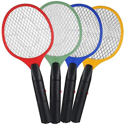 CCHM 3 Capas de Mosquitos eléctrico Swatter de batería electrónico de Mano de la Raqueta Killer matamoscas matamoscas Seguridad mosquitera,Rojo