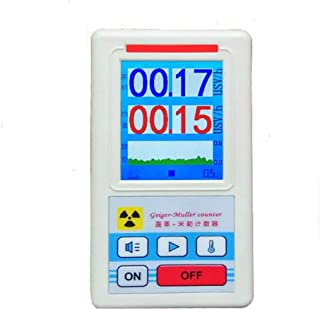 KKmoon ガイガーカウンター 放射線検出器 放射能 ベータ線 ガンマ線 放射能測定器 ホワイト