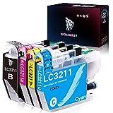 Wolfgray LC3211 LC3213 - Cartuchos de tinta compatibles con Brother LC3211 LC 3211 DCP-J572DW MFC-J491DW MFC-J497DW DCP-J772DW DCP-J774DW MFC-J890DW MFC-J895DW (1 negro/1cian/1magenta/1amarillo)