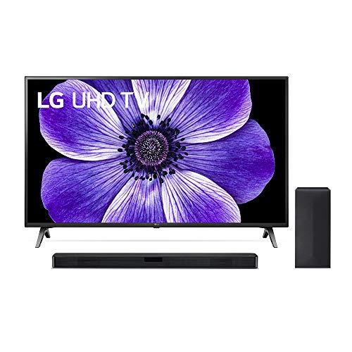 LG 65UN71006LB 164 cm (65 Zoll) UHD Fernseher (4K, Triple Tuner (DVB-T2/T,-C,-S2/S), Active HDR, 50 Hz, Smart TV) [Modelljahr 2020] + Soundbar LG DSN4