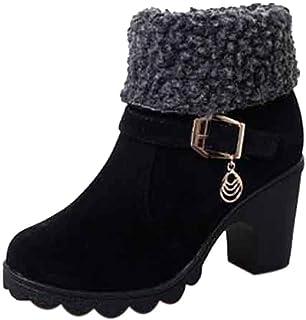 Botines Martin Mujer Moda OHQ Bandada De Invierno Plataforma Plegable Botas De Nieve CáLidas Negro Rojo Beige Azul Zapatos