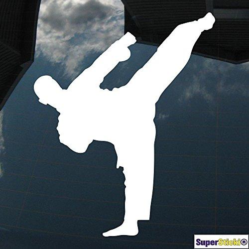 Karatekämpfer Karate Kampfsport 2 20cm Autoaufkleber Auto Aufkleber Decal Sticker von SUPERSTICKI® aus Hochleistungsfolie für alle glatten Flächen UV und Waschanlagenfest Profi Qualität