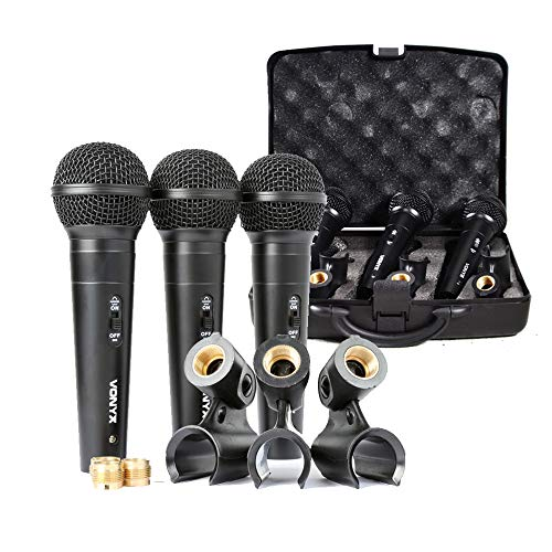 Vocal dinámico unidireccional Micrófono Set Carry Case clip|vonyx vx1800s