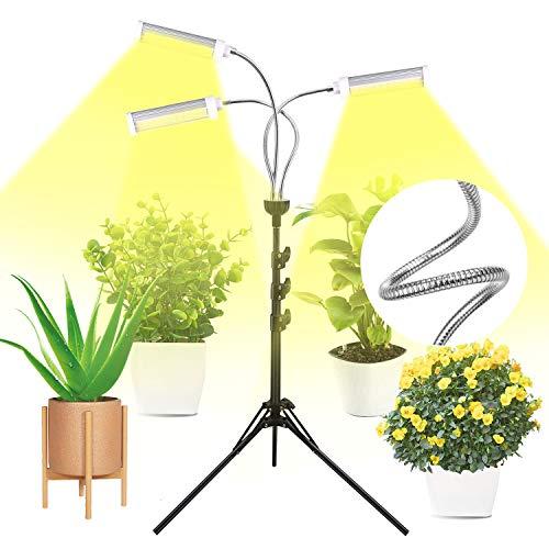 Emiral Pflanzenlampe LED, Pflanzenlicht, 150LEDs Wachsen licht für Zimmerpflanzen, Wachstumslampe Vollspektrum Wachstumslampe 360°Einstellbar, Zeitschaltuhr 3/6/12H, 3 Modus, 6 Helligkeitsstufen